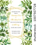 floral wedding invitation with... | Shutterstock .eps vector #1007507728