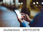 woman pointing finger on blank... | Shutterstock . vector #1007512078