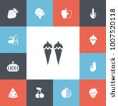 set of 13 editable berry icons. ...