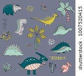 cartoon pattern with dinosaurs. ... | Shutterstock .eps vector #1007520415