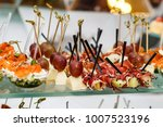 beautifully decorated catering... | Shutterstock . vector #1007523196