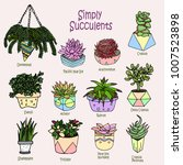 vector cartoon doodle... | Shutterstock .eps vector #1007523898