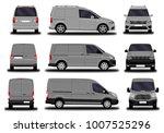 realistic cargo van. front view ... | Shutterstock .eps vector #1007525296
