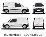realistic cargo van. front view ... | Shutterstock .eps vector #1007525302