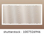 template for cutting. geometric ... | Shutterstock .eps vector #1007526946