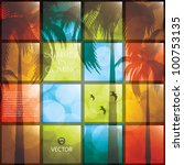 lovely summer poster. vector... | Shutterstock .eps vector #100753135