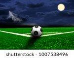 soccer ball on the green field  | Shutterstock . vector #1007538496