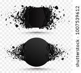 black square stone with debris... | Shutterstock .eps vector #1007539612