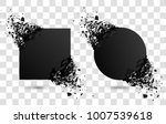 set of black explosion banners. ... | Shutterstock .eps vector #1007539618