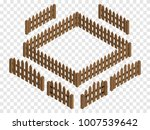 wooden isometric fences and... | Shutterstock .eps vector #1007539642