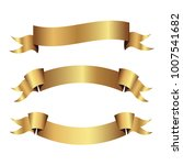 set of golden ribbons vector. | Shutterstock .eps vector #1007541682