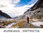 tourist on beautiful velicka... | Shutterstock . vector #1007542726
