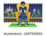 a vector illustration of man... | Shutterstock .eps vector #1007543032