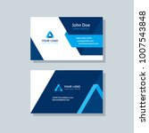 modern business card template... | Shutterstock .eps vector #1007543848