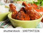 chicken drumsticks curry with... | Shutterstock . vector #1007547226