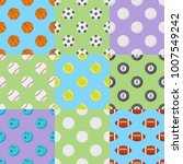 set of seamless patterns with... | Shutterstock .eps vector #1007549242