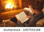 young woman enjoys reading a... | Shutterstock . vector #1007552188