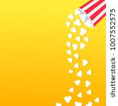 popcorn falling from round box. ... | Shutterstock .eps vector #1007552575