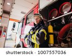 firefighter  fireman. emergency ... | Shutterstock . vector #1007557036
