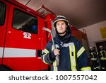 firefighter  fireman. emergency ... | Shutterstock . vector #1007557042
