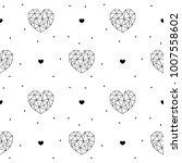 geometric hearts seamless... | Shutterstock .eps vector #1007558602