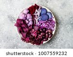 purple buddha bowl with spiral... | Shutterstock . vector #1007559232