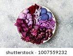 purple buddha bowl with spiral...   Shutterstock . vector #1007559232
