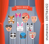 photo booth props with masks... | Shutterstock .eps vector #1007561422