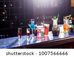 multicolored cocktails on the... | Shutterstock . vector #1007566666
