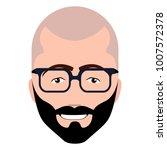 isolated hipster avatar image... | Shutterstock .eps vector #1007572378