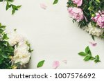 spring floral layout with... | Shutterstock . vector #1007576692