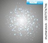 set of golden glowing lights... | Shutterstock .eps vector #1007576746