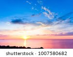 setting into the sea night is... | Shutterstock . vector #1007580682