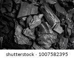 black charcoal  background ... | Shutterstock . vector #1007582395