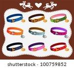 collars for dogs | Shutterstock .eps vector #100759852
