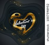 valentines day cover design.... | Shutterstock .eps vector #1007598952