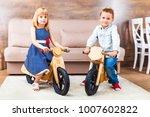 happy smiling little children... | Shutterstock . vector #1007602822