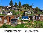view of a township in south... | Shutterstock . vector #100760596