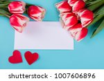 mother's day card with red... | Shutterstock . vector #1007606896