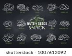 set vector icons hand drawn... | Shutterstock .eps vector #1007612092