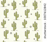 cactus pattern   seamless... | Shutterstock .eps vector #1007612842
