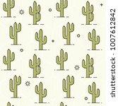 cactus pattern   seamless... | Shutterstock .eps vector #1007612842