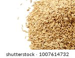 pile of yellow rice isolated on ... | Shutterstock . vector #1007614732