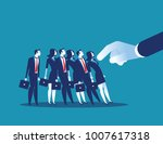 domino effect. manager pushes... | Shutterstock .eps vector #1007617318