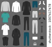 set of man fashion. clothes...   Shutterstock .eps vector #1007617678
