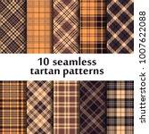 set of seamless tartan patterns | Shutterstock .eps vector #1007622088