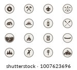 boy scouts icons  patches. the... | Shutterstock .eps vector #1007623696