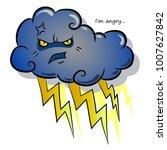 severe cloud with lightning....   Shutterstock .eps vector #1007627842