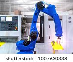 close up robot hands in milling ... | Shutterstock . vector #1007630338
