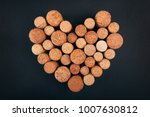 valentine heart from wine corks ... | Shutterstock . vector #1007630812